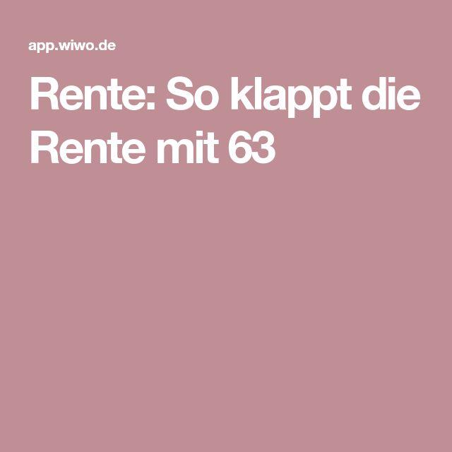 Rente: So klappt die Rente mit 63