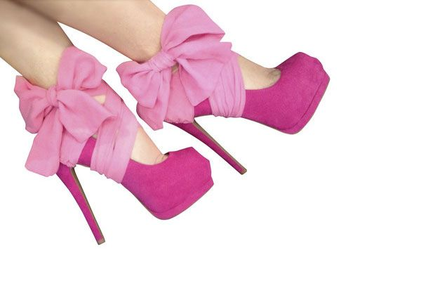 High Heel Cover - Pink Bows