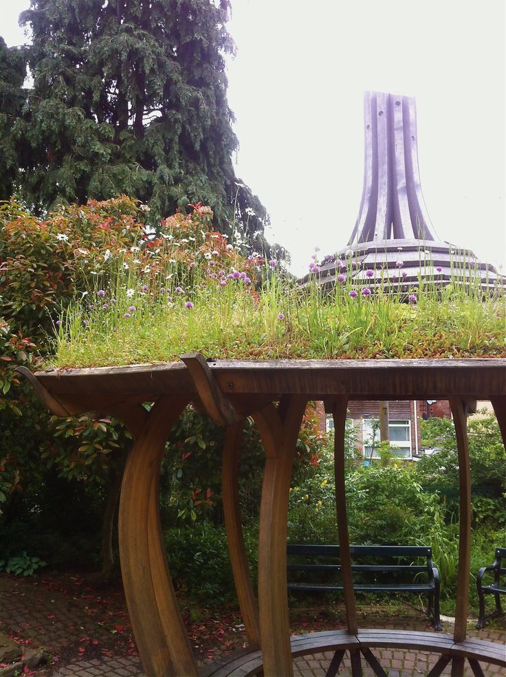 large onion Shelter with Green Roof at Botanical gardens. https://handspringdesign.wordpress.com