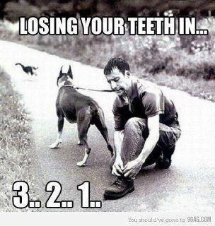 "We definitely don't recommend this...take care of your teeth ""pleasse"""