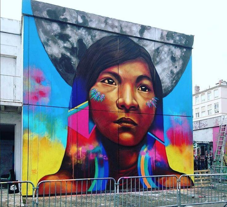 Guache for Festival Trublyon in La Croix Rousse, Lyon, Rhone-Alpes, France, 2017