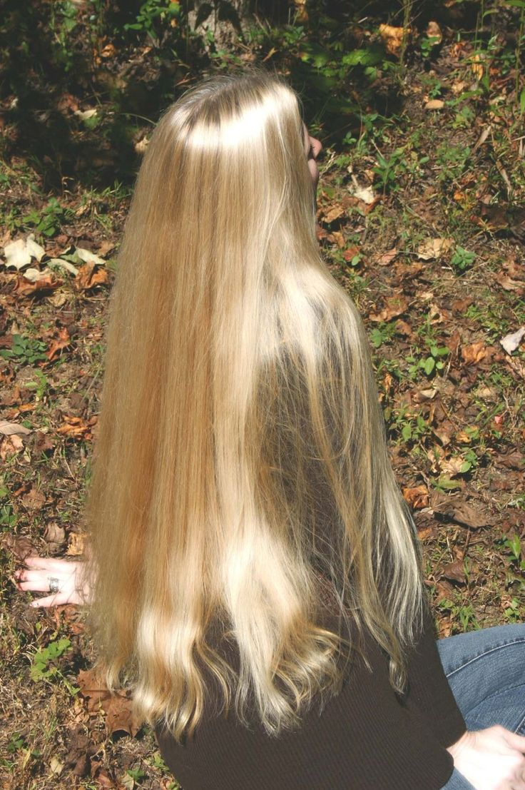 Very healthy long hair