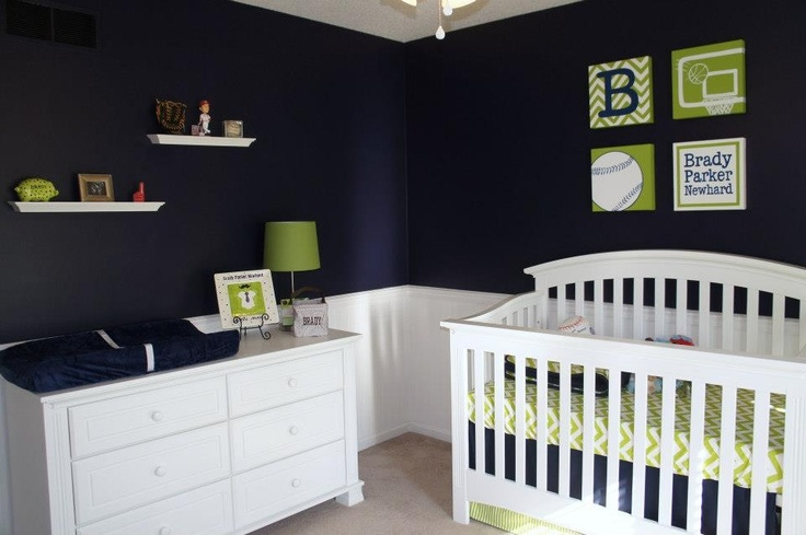 Dresser and crib in Brady's nursery