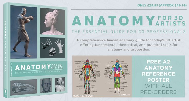 Get a free A2 reference poster when you pre-order Anatomy for 3D Artists before 9 November 2015! #anatomy #artbook #3Dart