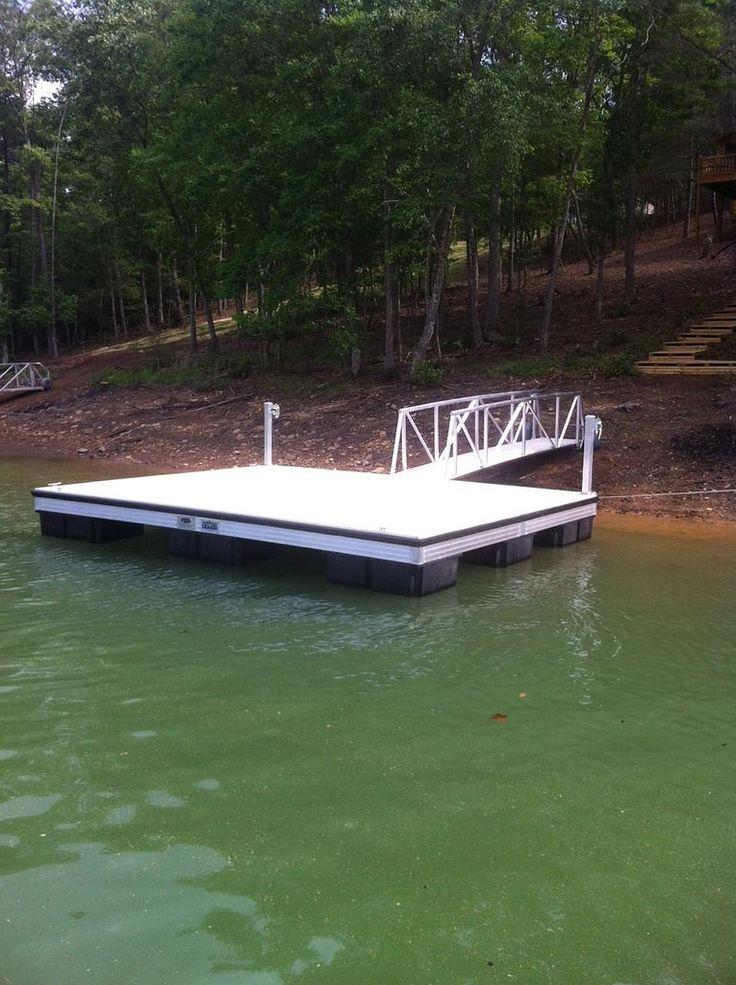 47 best rafts images on pinterest boat dock floating for Pool platform ideas
