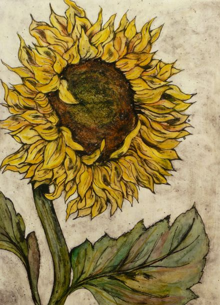 Vicky Oldfield ~ Summer Breeze (collagraph)