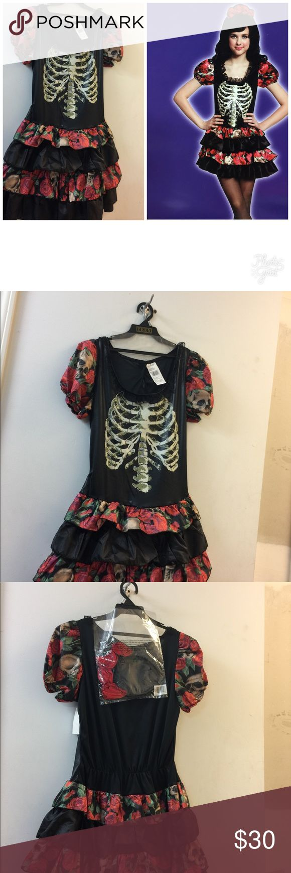 Skull Dancer Teen Girls Costume One Size Fits Most Skull Dancer Teen Girls Costume One Size Fits Most Other