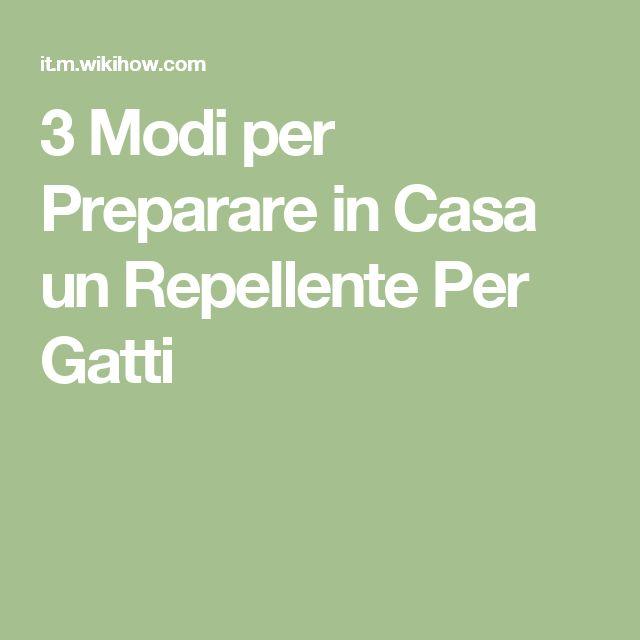 3 Modi per Preparare in Casa un Repellente Per Gatti