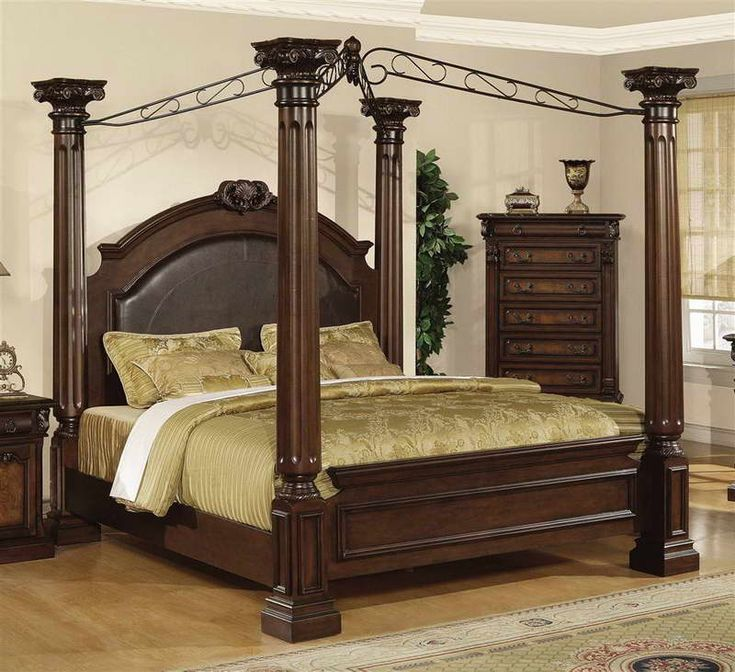 Contemporary Canopy Bed Bring the Fantastic Ambiance With Wood Cabinets