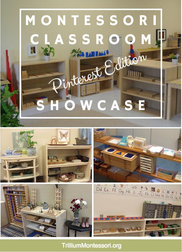 Classroom Showcase: Pinterest Edition — trilliummontessori.org #Montessori #MontessoriClassroom