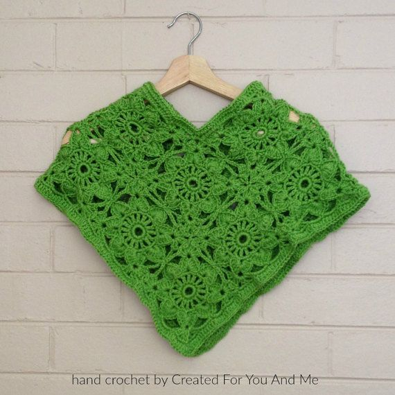 little girl's poncho https://www.etsy.com/au/listing/466807986/green-toddler-girls-poncho-knitted-green