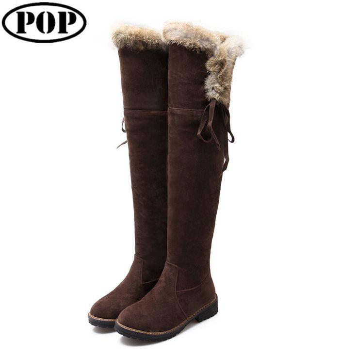 Goedkope Hoge kwaliteit vrouwen laarzen 2015 herfst winter dames suède mode lage hakken laarzen schoenen knie merk ontwerp warme snowboots, koop Kwaliteit vrouwen laarzen rechtstreeks van Leveranciers van China: hot gerelateerde lange laarzen       1) gloednieuwe 100 %2)