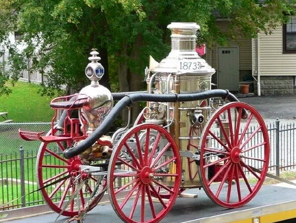 Newton Fire Department's 1873 Clapp&Jones third size steam engine. This was the first modern steam powered piece of fire equipment in Sussex County NJ