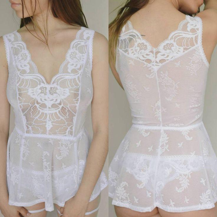 Amanda white dress. Today on Etsy #lacedress #lingeriedress #lingeriecamisole…