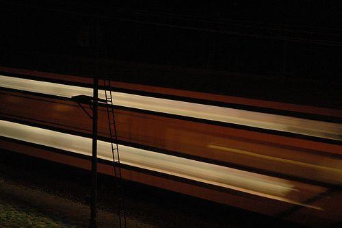 Train by night by Dijkie!, via Flickr