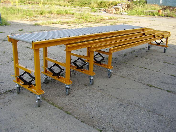 Gravity conveyor - unloading // Gravitační dopravník - vykládka