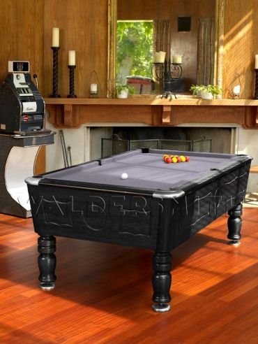 7ft Burlington English Pool Table - Black Finish - A strong build, sophisticated style and superb game-play all help cement the Burlington's status as a premier English pool table. It has been fully league approved by the British Association of Pool Table Operators and European United Kingdom Pool Federation, and is often used in BAPTO tournaments, EUKPF World Championships and European Championships.