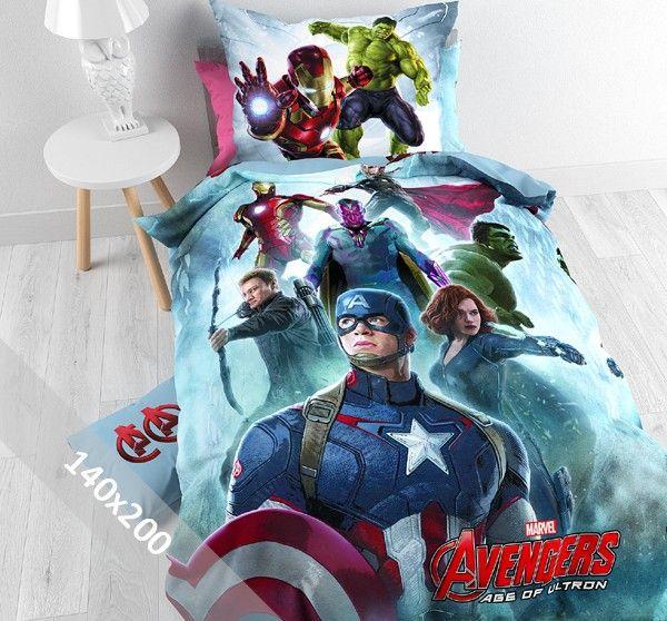 Het dekbedovertrek heeft een leuke afbeelding van vele Marvel Avengers superhelden zoals Iron man, The Hulk en Captain America. Het overtrek heeft een blauw / grijze ondergrond die leuk is afgewerkt. De andere kant van het dekbedovertrek is lichtblauw bedrukt met het rode Avengers logo.