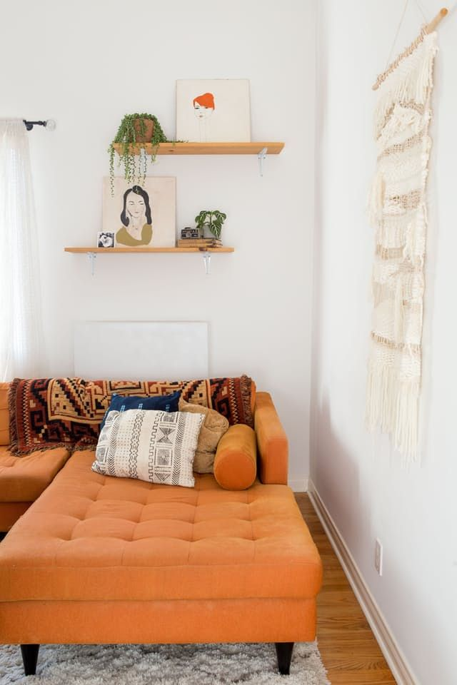 House Tour: A Calm and Comfortable California Cottage | Apartment Therapy (I like the simplicity of the shelves: just art & plants)