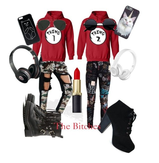"""friends forever"" by sammimochi on Polyvore featuring Dolce&Gabbana, Liquor n Poker, RED Valentino, Beats by Dr. Dre and Ray-Ban"