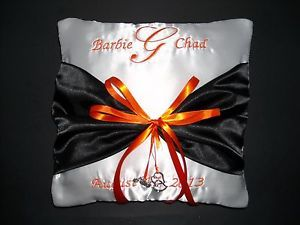 Harley Davidson Wedding Rings | Personalized-Wedding-Ring-Bearer-Pillow-Harley-Davidson-Colors ...