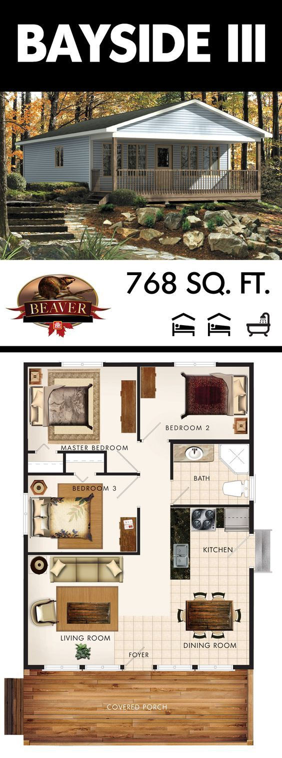 The Bayside III includes two spacious guest bedrooms that are the perfect size to keep your company comfortable and feeling at home. #BeaverHomesandCottages