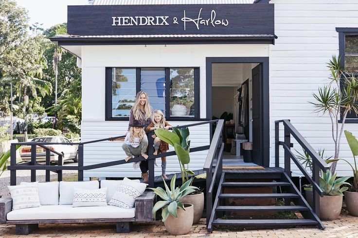 Myee from Hendrix and Harlow out the front of their new store in Bamngalow