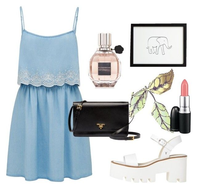Calm by iyafries on Polyvore featuring Forever New, Duffy, Prada, Viktor & Rolf, Universal Lighting and Decor and MAC Cosmetics