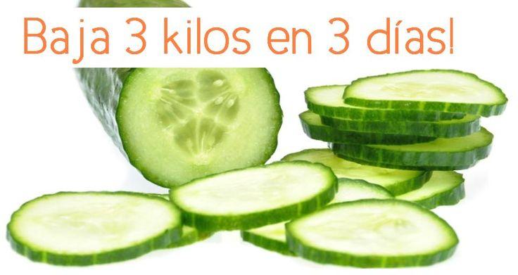 Los beneficios del pepino para adelgazar son bien sabidos desde hace años, con esta dieta de sólo 3 días se puede adelgazar hasta 3 kilos dependiendo de