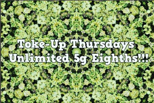Come see us tomorrow for the TOKE-UP THURSDAY special!! Unlimited 5g eighths!! We are stocked with amazing strains like Gorilla Glue #4, Dutch Crunch, and Doc's OG !! Check our full menu out on Weedmaps.com by searching GNC !! #420 #tokeup #thursday #hookup #deal #stayhigh #smokeweed #marijuana #medicate #flower #buds #thc #hightimes
