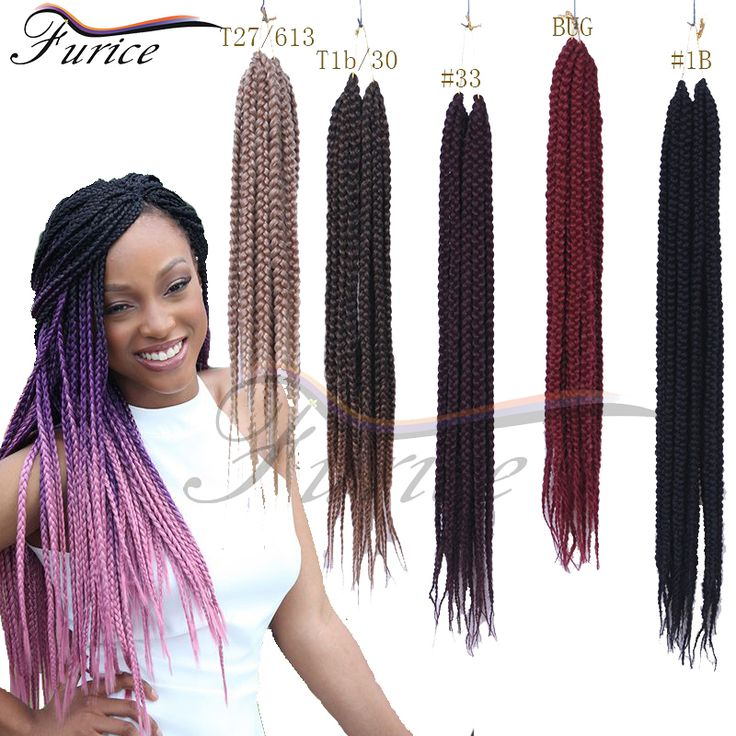 Aliexpress.com : Buy Crochet Box Braids Hair Medium Length Pre twisted BOX Braids Black Brown Burgundy Synthetic Crochet Braiding Hair Extension from Reliable hair trimmers suppliers on Henan Furice Hair Store