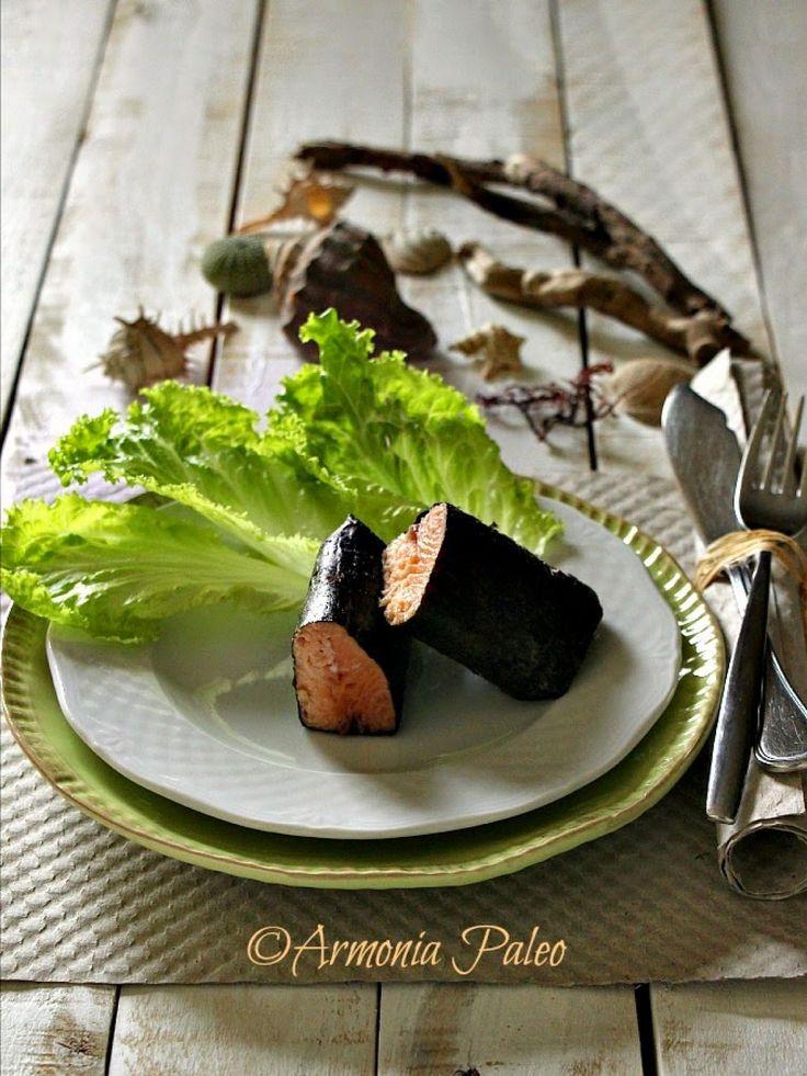 Salmone Arrosto in Cartoccio di Alga Nori