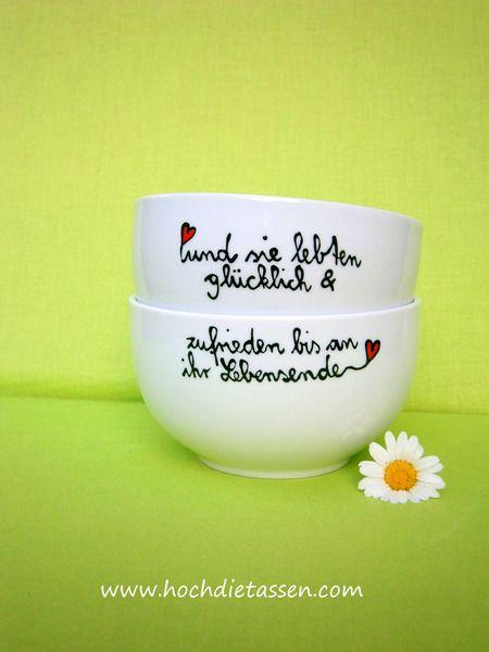 Gastgeschenke - Hochzeitgeschenk ★ Schalen ★ Set Hochzeitsgeschenk - ein Designerstück von Hoch-Die-Tassen bei…