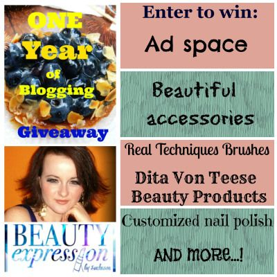 Let's celebrate 365 days of Beauty expression by Luchessa! 1 Year of Blogging Giveaway. Win Artdeco cosmetics by Dita von Teese and more!