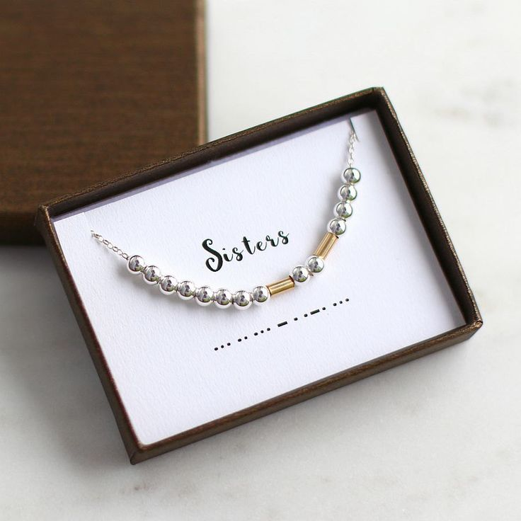 Sisters Morse Code Necklace, Morse Code, Sisters Necklace, Secret Message gift, Custom Morse Code Necklace, Gift for Sister, Sisters Jewelry