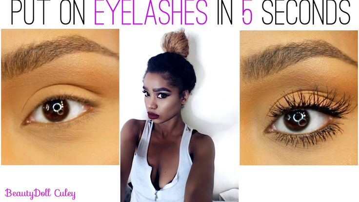 How To Put On Eyelashes in 3 Seconds  - BeautyDoll Culey