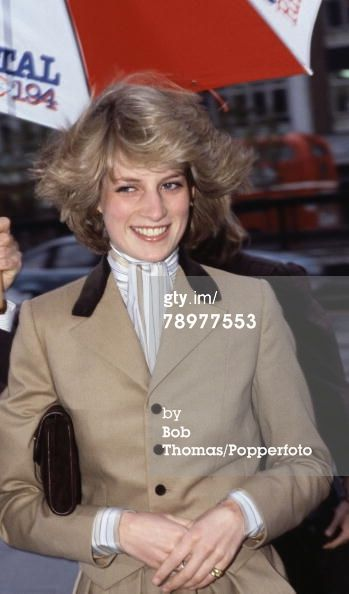 November 23, 1982: Princess Diana on a walkabout during her visit to Capital Radio Studios, London.