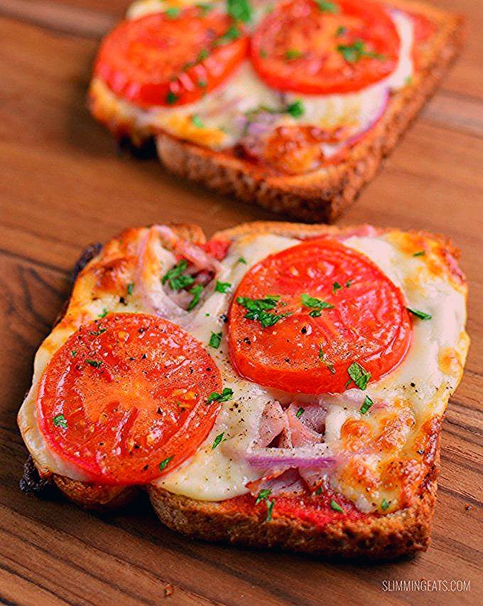 syn free pizza toasts abnehmen isst weltrezepte abnehmen mittagessen mittagessenrezepte rezepte toast recipes homemade french toast healthy toast toppings pinterest