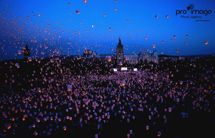 Beautiful Iasi - The most sky lanterns flown simultaneously Guinnes World Records
