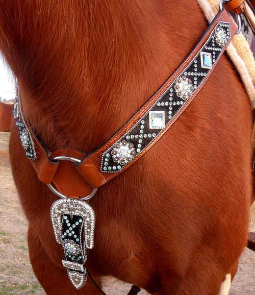 Beautiful horse tack | This blingy breast collar is sure to make a statement in the arena!