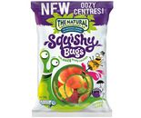 A box of 12 bags of The Natural Confectionery Company Squishy Bugs lollies.