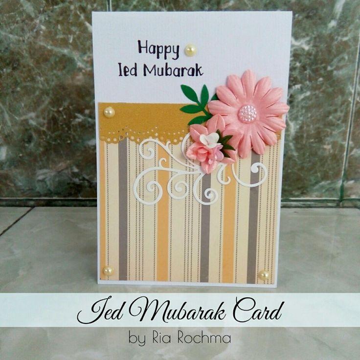 [Card Making] Ied Mubarak Card for Winda Krisnadefa