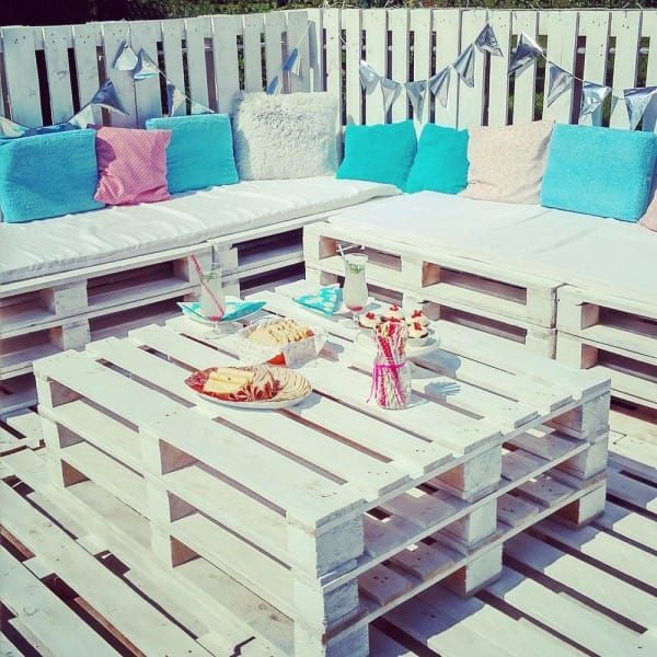 Personally, I think the end result is stunning. To think, they started with throwaway pallets.