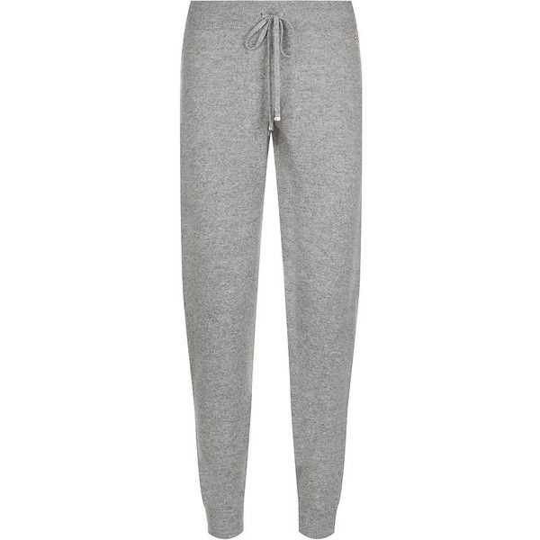 Juicy Couture Cashmere Tapered Tracksuit Pants ($345) ❤ liked on Polyvore featuring pants, pijamas, sweats, juicy couture, juicy couture pants, tapered trousers, tapered pants and cashmere pants