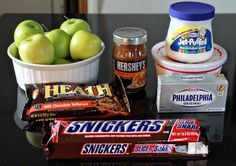 When you get a giant Snickers bar for Christmas there is only one thing to do…make Caramel Apple Snickers Salad. My recipe is slightly different than other recipes you will find for Snickers Salad. I make my wonderful marshmallow cream dip and add cool whip or whipped cream. Cut you apples into bite sized pieces