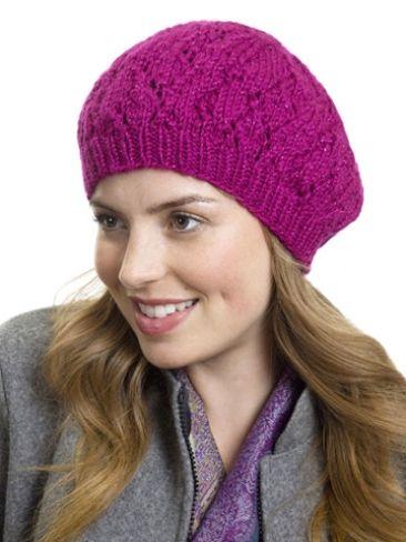Raspberry Stitch Knit Hat Pattern : Raspberry Beret Yarn Free Knitting Patterns Crochet Patterns Yarnspir...