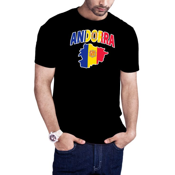 Men's Andorran Flag Map Andorra t-shirt by Calidreamers on Etsy