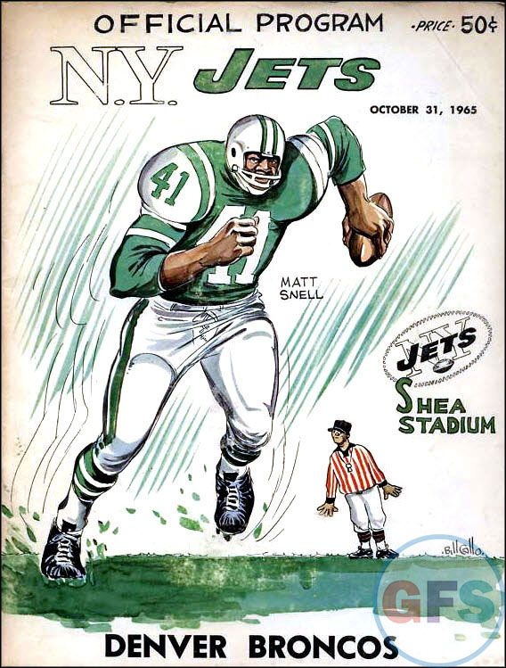 AFL Game Program: New York Jets vs. Denver Broncos (October 31, 1965)