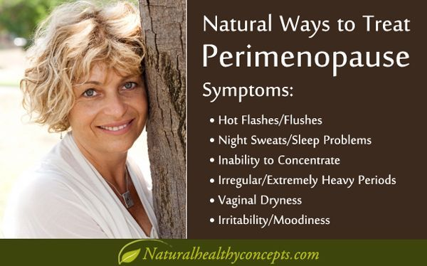 perimenopause symptoms and natural solutions