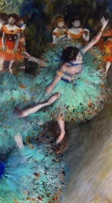 Degas: Green Dancers, Impressionist, Edgar Degas, Ballet, Ballerina, Painting